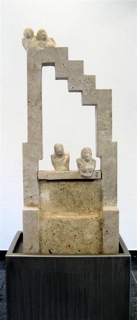 | wasser-skulptur | blg-zentrale bremen | 2006 | röm.travertin